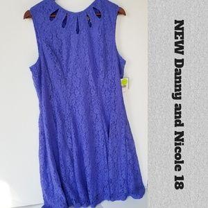 NEW Danny & Nicole Periwinkle Sleeveless Dress 18
